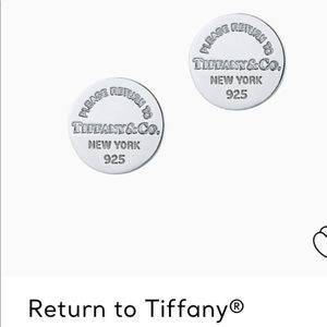 Tiffany's Sterling Silver Circle Stud Earrings